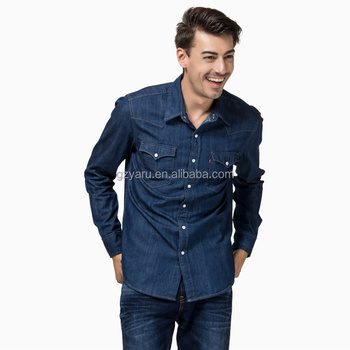 Men's lastest Casual Jeans long sleeve shirt