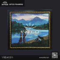 INTCO PS framed grasslands women handmade canvas oil painting