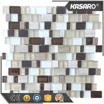 Honey Onyx Blend Glass Mix Stone Mosaic Tile Mosaic Glass