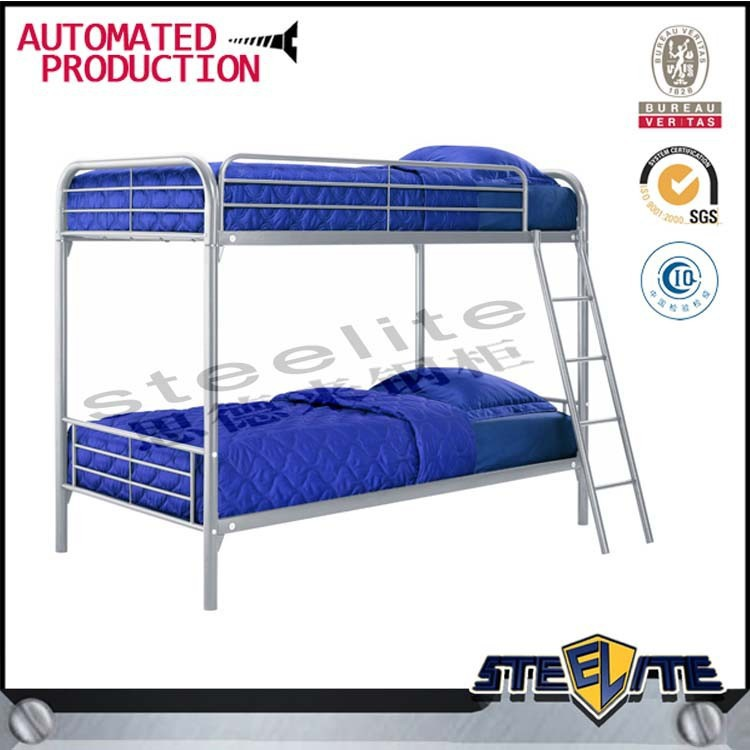 China quality metal bunk bed double bed design 2 tire children bed