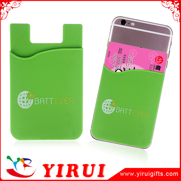 hot sale 3m sticker silicone rubber business credit card holder stick phone
