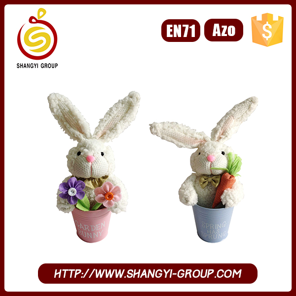 China plush easter rabbit doll for easter flavor