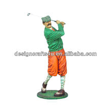 resin decorative golf clown figurine