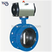 China Supplier Stainless Steel Pneumatic Flange Butterfly Valve
