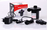 Battery powered mini electric air pump for inflate/deflate air beds/mattress/tents