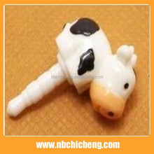 PVC Cute anti Dust Plug Hot Selling Mobile Phone Cow Dust Plug Phone Dust Plug