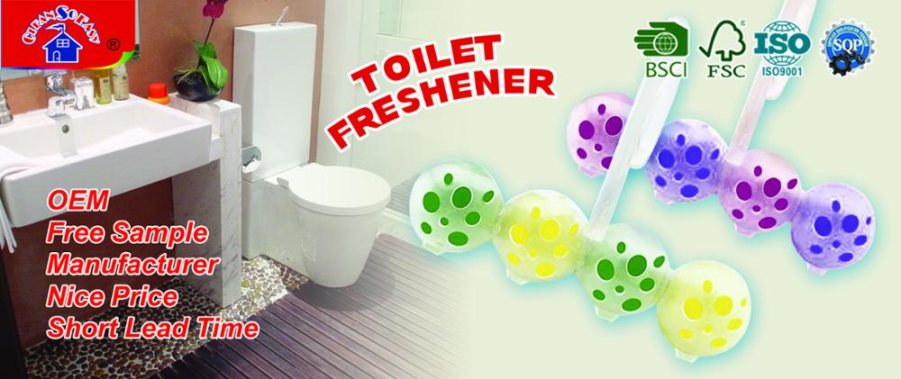 Factory supplier durable usage scented auto toilet bowl air freshener