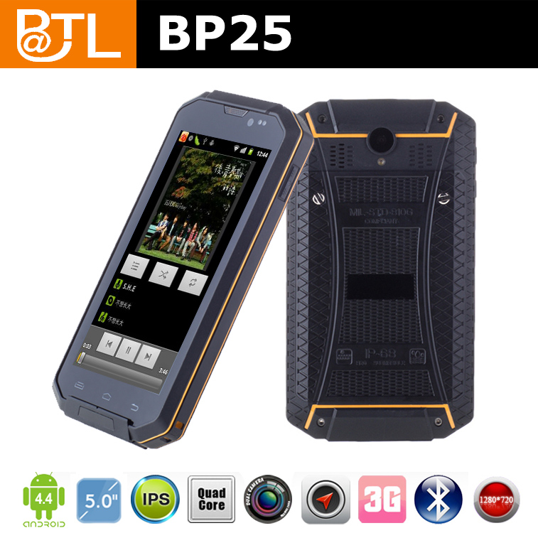 BATL BP25 Quad Core OGS Screen phone waterproof android waterproof phone shockproof dustproof 3g Rugged Phone