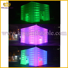 Guangzhou Factory Cheap Inflatable Cube Tent Led, Giant Inflatable Tent With LED light
