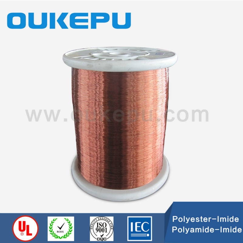 plastic spool brown colour flat enameled copper magnet wire