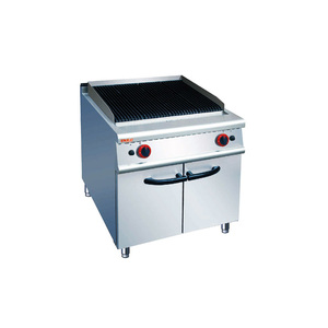 Commercial Restaurant Professional Stainless Steel Industrial Lava Rock Indoor BBQ Gas Grill
