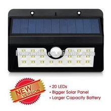 Garden Light, 3.7V Solar Panel Waterproof Wireless 20 LED Solar Motion Sensor Night Auto Lights