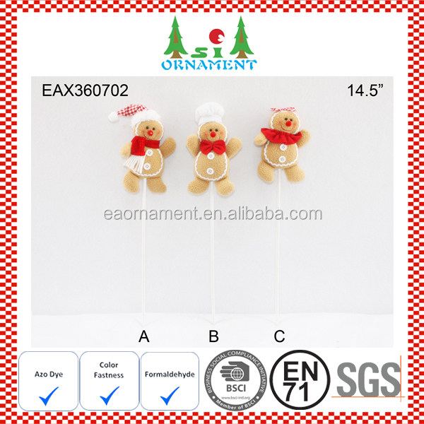 Christmas pick of gingerbread man decoration