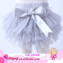 2015 light grey baby chiffon tutu bloomers ruffle cotton petti skirted bloomers