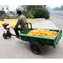 LuKe 10 tons Agricultural Mini small Power Tiller farm walking Tractor Trailer for agricultural tractor for sale Price with ce