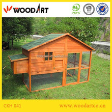 Outdoor large wooden chicken coop hen house