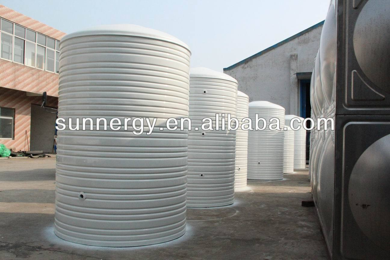 Stainless steel cylindrical water tank solar heater mill