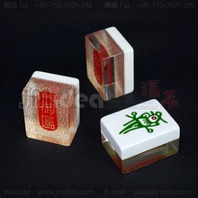 LOGO Mahjong 40*30*23mm High End Mahjong For Anti cheat Puzzle Game set Teaching supplies Gambling Toy Table Games Access
