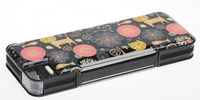 HOT sale floral plastic pencil case with multi-function