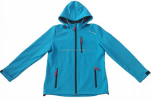 Woman outdoor HIGH QUALITY reflective piping waterproof windproof breathable 3 layer bonded fleece Soft shell Winter Jacket