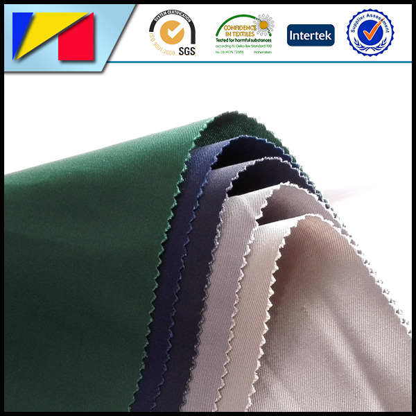 65% cotton 35% polyester T/C satin fabric with one napping side for work clothing, cotton clothing, outdoor