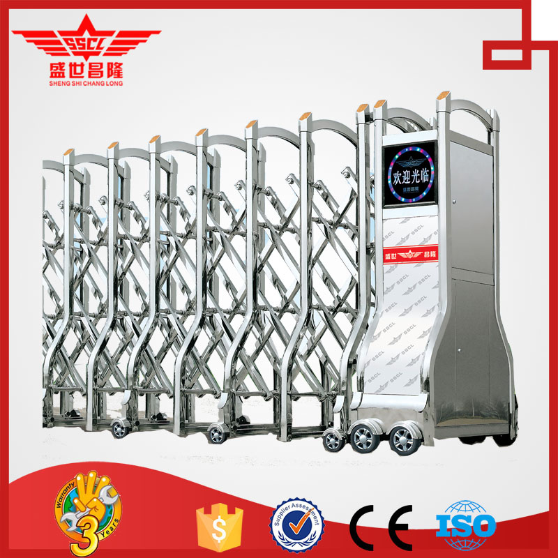 high quality automatic folding gate/ baby security sliding gate/ factory front door -J1367