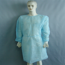 CPE Cheap Disposable Medical Sterile Gowns With CE&ISO Creped Paper