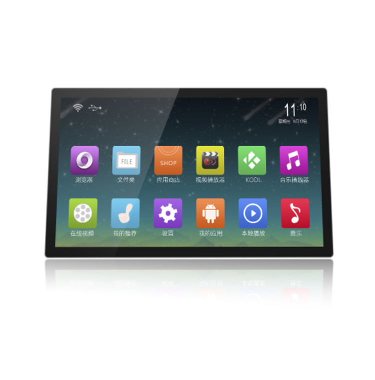 22 inch thin usb lcd touch screen,indoor advertising player,pantallas para autos