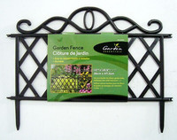 decorative flower garden fencing/plastic garden border fence