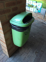 50L twin plastic dustbins