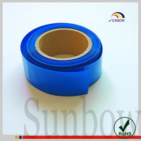 Environment friendly thin wall shrinkable PVC sleeves for battery package