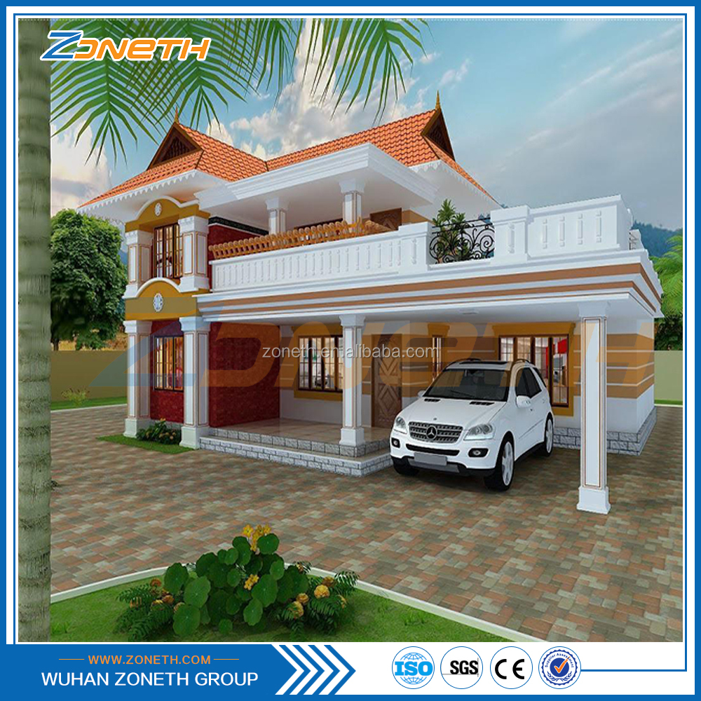 Sound insulated economic fast installation concrete prefab house