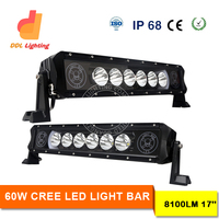 60w automotive accessories,CE Rohs IP68 approved ce rohs led light bar multi color log printing led bar light single row