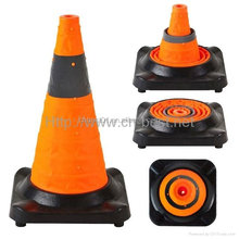 45cm height Rubber base round collapsible traffic cone