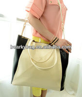 2014 guangzhou new style PU leather ladies fashion handbag factory