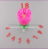 lotus flower music fireworks birthday cake candle with high quality and cheapest Price
