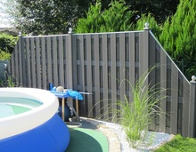 1870x1850mm Alu. pole with WPC board plastic composite Outdoor garden fencing