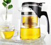 Wholesale Portable Handmade Pyrex Clear Glass Teapot With Infuser