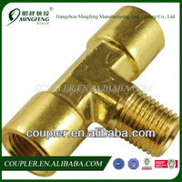 Wholesale 3 Way T Type Brass Pipe Fitting/Copper Pipe Fitting