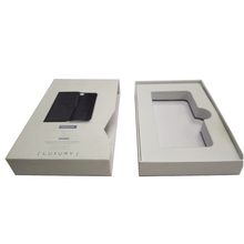 high quality electronic storage packaging iphone case drawer box with paper inner tray