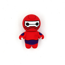 High quality creat mini Spider-Man character silicone rubber USB flash stick drive
