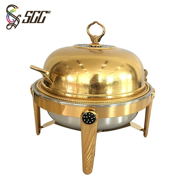 Stainless Steel Round Roll Chafng Dish Induction Buffet Chafing Dish/ Food Warmer Dish