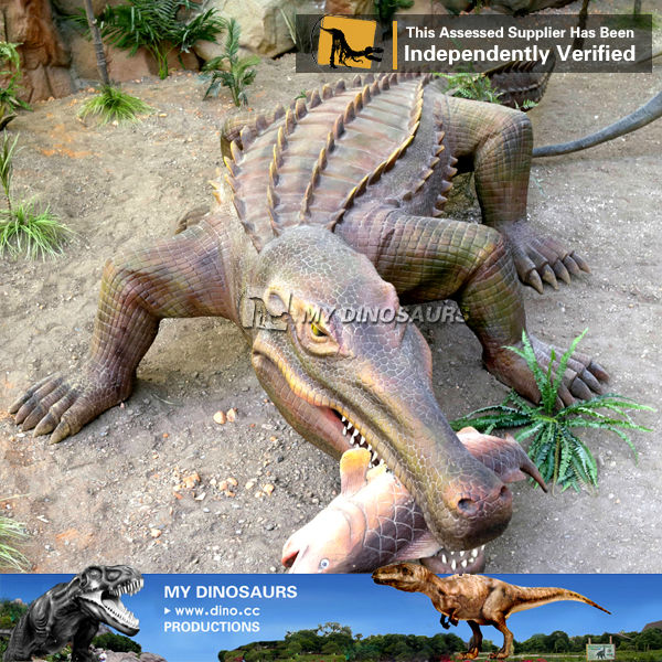 My-dino yard animals mechanical animated crocodile