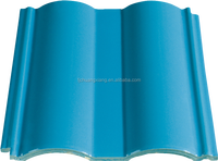 Clay Ceramic Light Blue Roof Tiles 200x200mm for roofing decoration