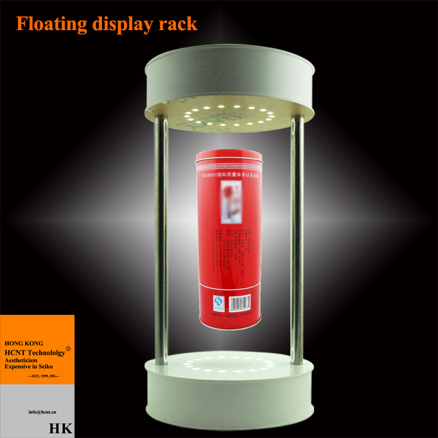 LED, Acrylic, etc, Import acrylic Material Levitating bottle display with color-changed led lights