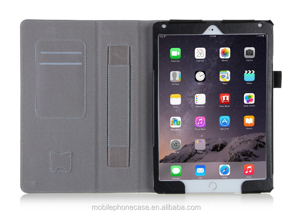 China wholesale folio leather case for Ipad Air 2