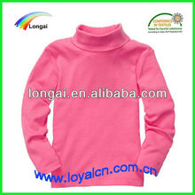 100% cotton pink comfort solid turtleneck