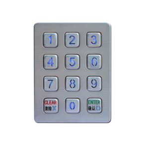 color customized keypad immobilizer ip68 desktop keyboard