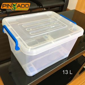Home Storage 13 L Plastic Box Organizer with Clips