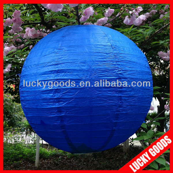 wholesale wedding decorative round blue paper lantern